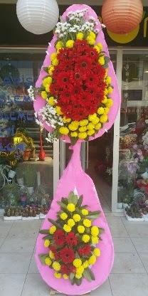 Çift katlı düğün nikah açılış çiçek modeli  Çorum çiçek siparişi vermek
