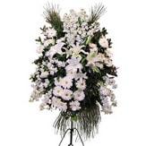 Çorum uluslararası çiçek gönderme  Ferforje beyaz renkli kazablanka