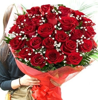 Kız isteme çiçeği buketi 33 adet kırmızı gül  Çorum çiçek gönderme