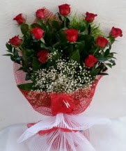11 adet kırmızı gülden görsel çiçek  Çorum ucuz çiçek gönder