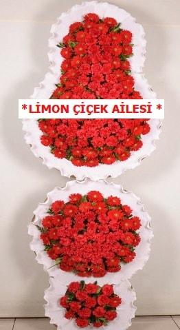3 katlı kırmızı düğün açılış çiçeği  Çorum çiçek satışı