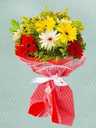 Karışık Gelbera Buketi  Çorum çiçekçiler