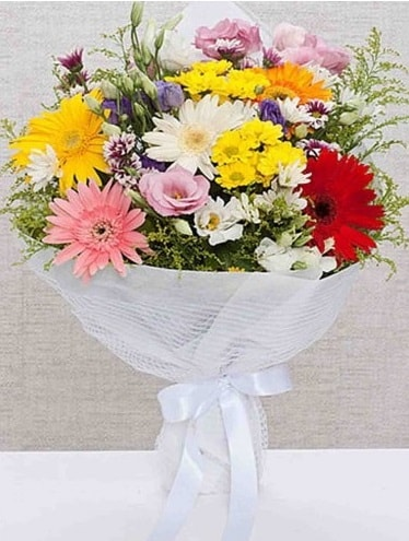 Karışık Mevsim Buketleri  Çorum çiçekçi mağazası