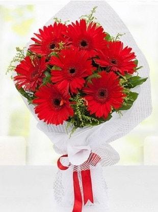 Kırmızı Gelbera Buketi  Çorum online çiçek gönderme sipariş