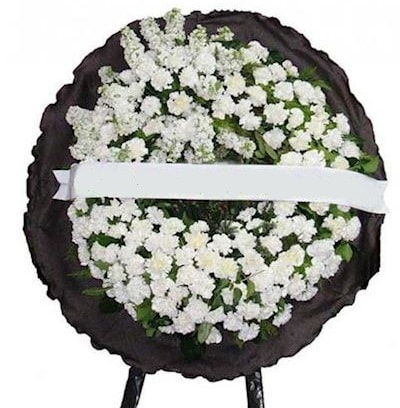 Cenaze çelengi çiçeği modelleri  Çorum internetten çiçek siparişi