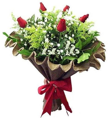 5 adet gülden buket  Çorum çiçek gönderme