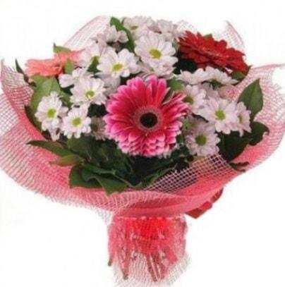 Gerbera ve kır çiçekleri buketi  Çorum online çiçek gönderme sipariş