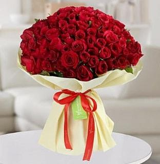 101 adet kırmızı gül buketi koca demet  Çorum online çiçek gönderme sipariş