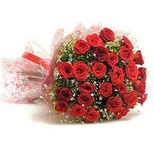 27 Adet kırmızı gül buketi  Çorum çiçekçi mağazası