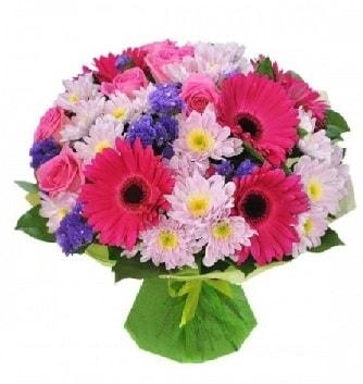Karışık mevsim buketi mevsimsel buket  Çorum ucuz çiçek gönder