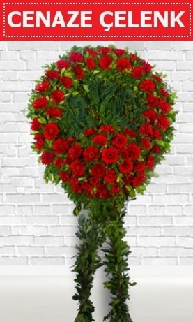 Kırmızı Çelenk Cenaze çiçeği  Çorum çiçek yolla