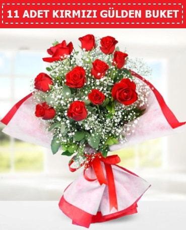 11 Adet Kırmızı Gül Buketi  Çorum online çiçek gönderme sipariş