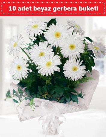 10 Adet beyaz gerbera buketi  Çorum hediye çiçek yolla