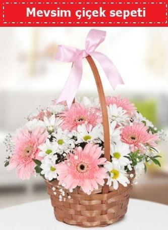 Mevsim kır çiçek sepeti  Çorum hediye çiçek yolla