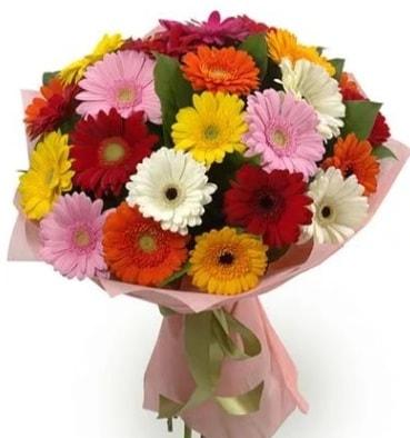 Karışık büyük boy gerbera çiçek buketi  Çorum ucuz çiçek gönder