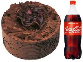 4 ve 6 Kişilik çikolatalı yaş pasta  1 litre cola